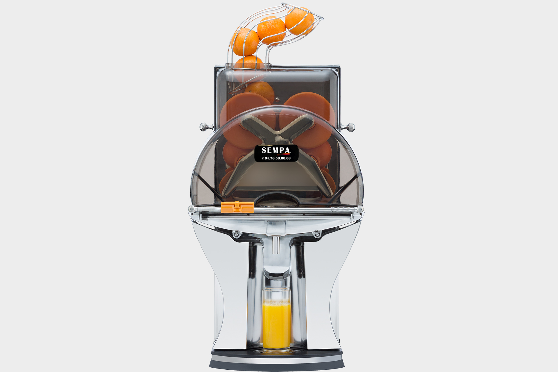 juicer with automatic start with feeding of fruit